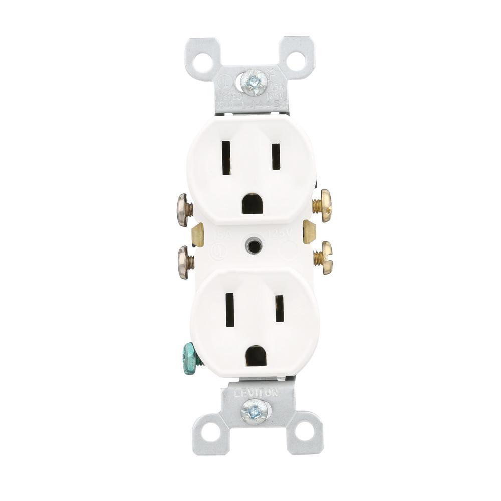 BSTC | RV Qatar - CODE 00162 Leviton 15 Amp Duplex eOutlt, White 15 ...